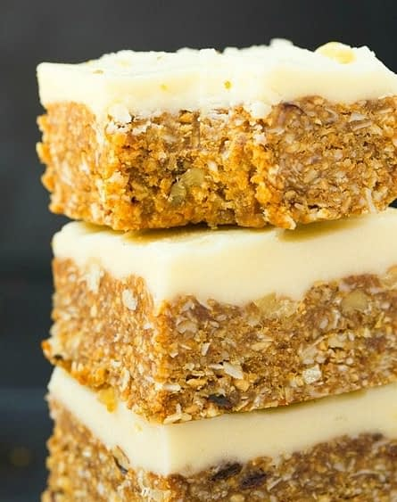 low carb carrot cake bars