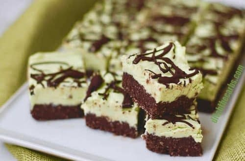 low carb chocolate peppermint squares
