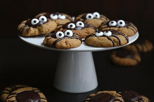 low carb chocolate Halloween spider cookies