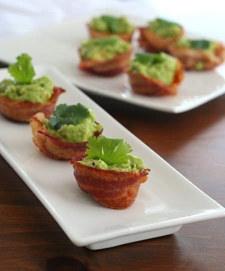 low carb bacon guacomole cups