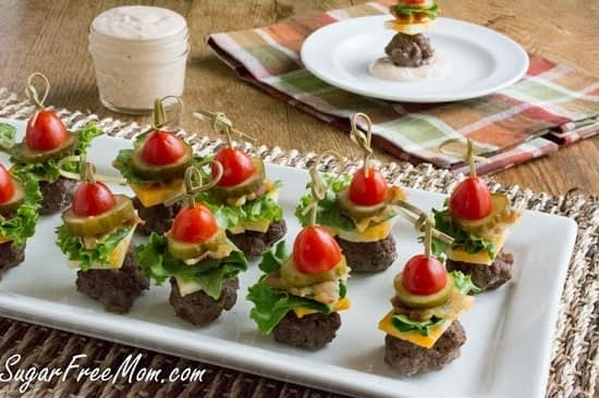 mini cheeseburger bites